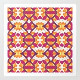Summer Colors Pattern Art Print
