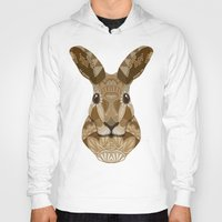 hare Hoodies featuring Ornate Hare by ArtLovePassion