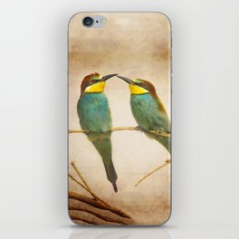 Love time. Bee-eaters iPhone Skin