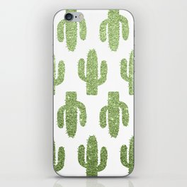 Glitter Cacti iPhone Skin