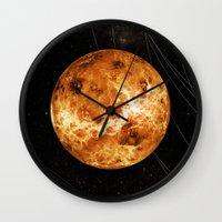 venus Wall Clocks featuring VENUS by Alexander Pohl