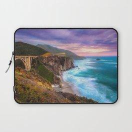 Big Sur Bixby Bridge Adventure Laptop Sleeve
