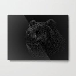 Grizzly Line art Metal Print