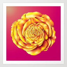 Golden Rose Art Print