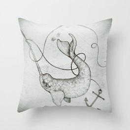 """Uncharted Waters"" art print Throw Pillow"
