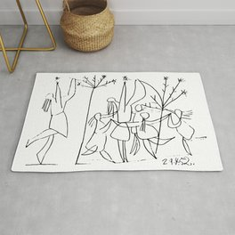 Pablo Picasso Guerre Et Paix, War And Peace Design, 1952 Artwork Reproduction For Posters, Tshirts, Rug