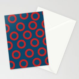 Fishman Donuts Red and Blue Stationery Cards