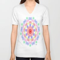 ferris wheel V-neck T-shirts featuring Ferris Wheel by SBHarrison