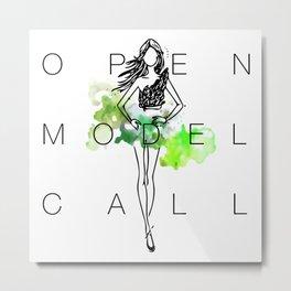 Trashion Fashion Show Model Call Metal Print