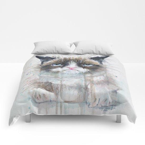 Grumpy Kitty Cat Comforters