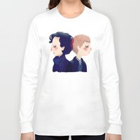 221b Long Sleeve T-shirts featuring 221B by Nan Lawson
