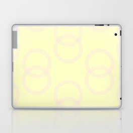 Simply Infinity Link Pink Flamingo on Pale Yellow Laptop & iPad Skin