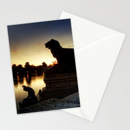 The Lion watches Stationery Cards