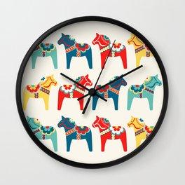 Swedish Horses Wall Clock