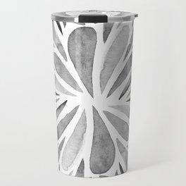Symmetric drops - black and white Travel Mug