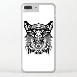 rebel werewolf ecopop Clear iPhone Case