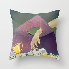 Looking  for the perfect beat Throw Pillow