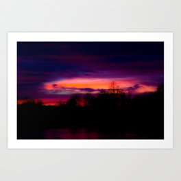 A Sunset in February Art Print