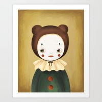lucy Art Prints featuring Lucy by The Midnight Rabbit