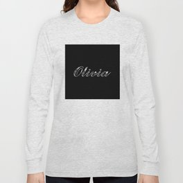 Olivia in Silver Long Sleeve T-shirt