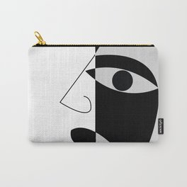 Black and white face Carry-All Pouch