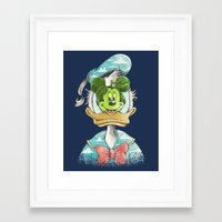 magritte Framed Art Prints featuring duck magritte by Alan Maia
