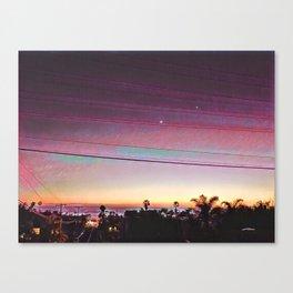 Cardiff Sunset Canvas Print