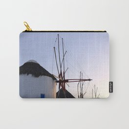 Famous Mykonos Windmills in Greece Carry-All Pouch