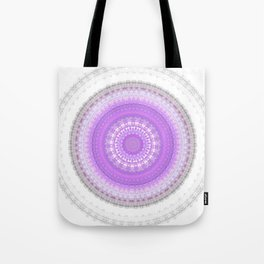 Lavender Boho Chic Mandala Tote Bag