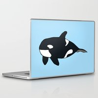 killer whale Laptop & iPad Skins featuring Orca/Killer Whale by Nemki