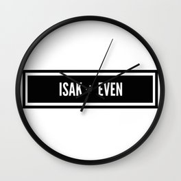 Isak x Even Wall Clock