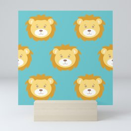 Cute Lion Love Mini Art Print