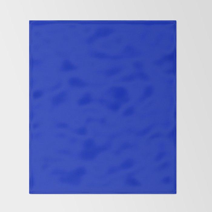 Solid Deep Cobalt Blue Color Throw Blanket