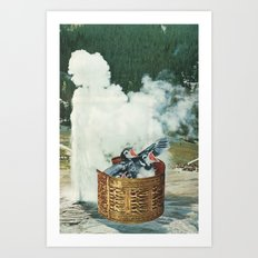 Great Birds No. 3: Nesting Habits Art Print