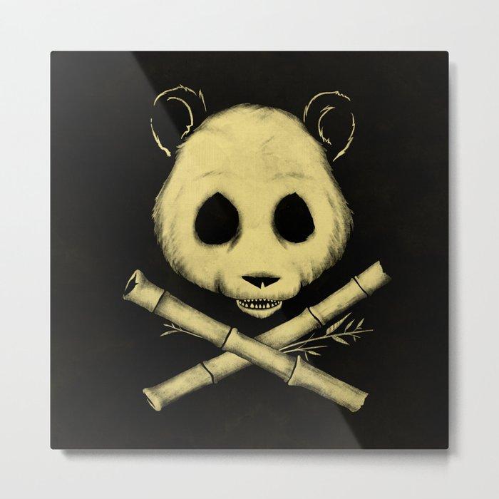 The Jolly Panda Metal Print