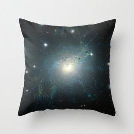 Dusty spiral galaxy Throw Pillow