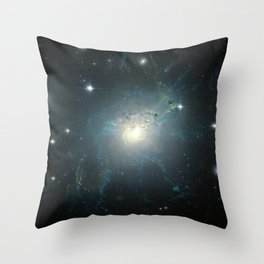 Dusty spiral galaxy Throw Pillow
