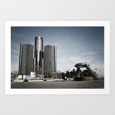 Detroit's Hart Plaza Art Print