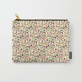 Taj Mahal Marble Flowers and Vines Carry-All Pouch