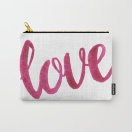 Love Script Watercolor Carry-All Pouch