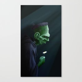 Frankenstein Remembers Canvas Print