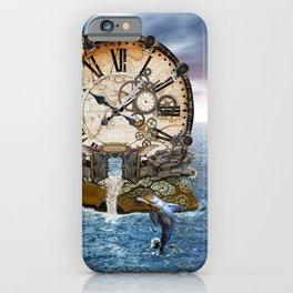 Steampunk Ocean Dragon Library iPhone Case