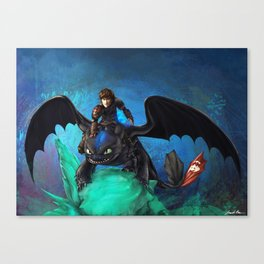 The Alpha Protects Them All Canvas Print