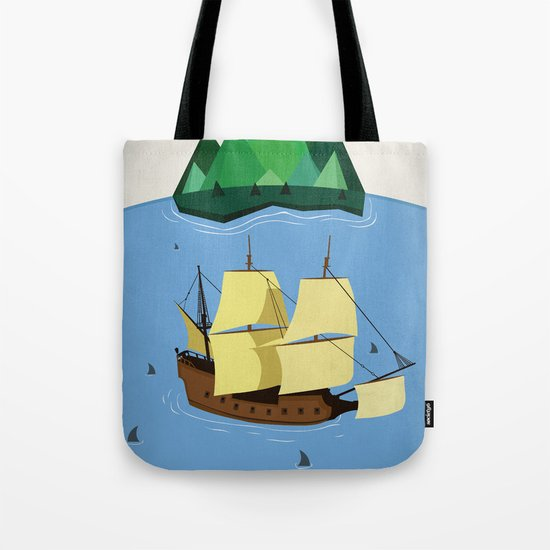 A Galleon on the High Seas Tote Bag