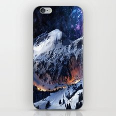 Mountain CALM IN space view iPhone & iPod Skin