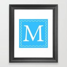 Stamp M;  Framed Art Print