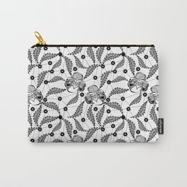 Black vintage lace . Carry-All Pouch