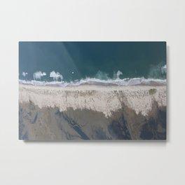 Aerial Beach Photograph: Masonboro Island | Wrightsville Beach NC Metal Print