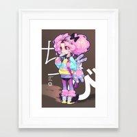 chibi Framed Art Prints featuring chibi by barachan