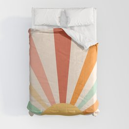 Boho Sun Colorful Comforters